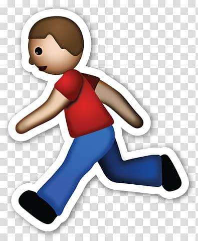 EMOJI STICKER , walking man emoji transparent background PNG.