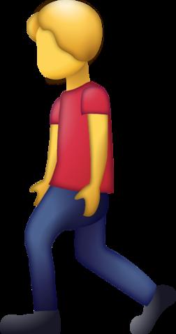 Man Walking Emoji [Free Download iPhone Emojis].