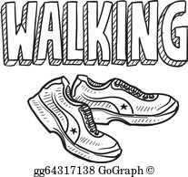 walking exercise clipart #9