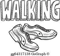 Walking Exercise Clip Art.