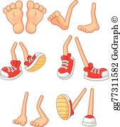 Feet Walking Clip Art.