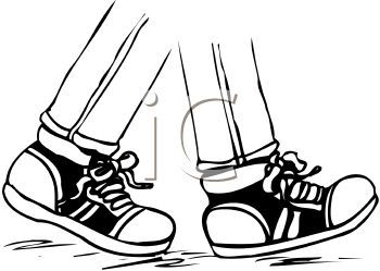 Children Walking Feet Clip Art.