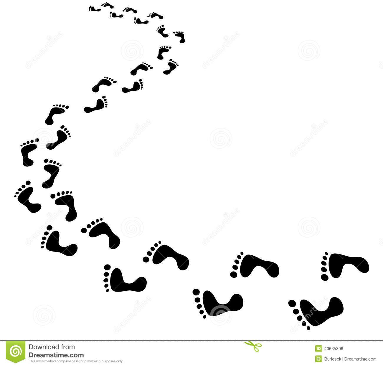 1639 Footprints free clipart.