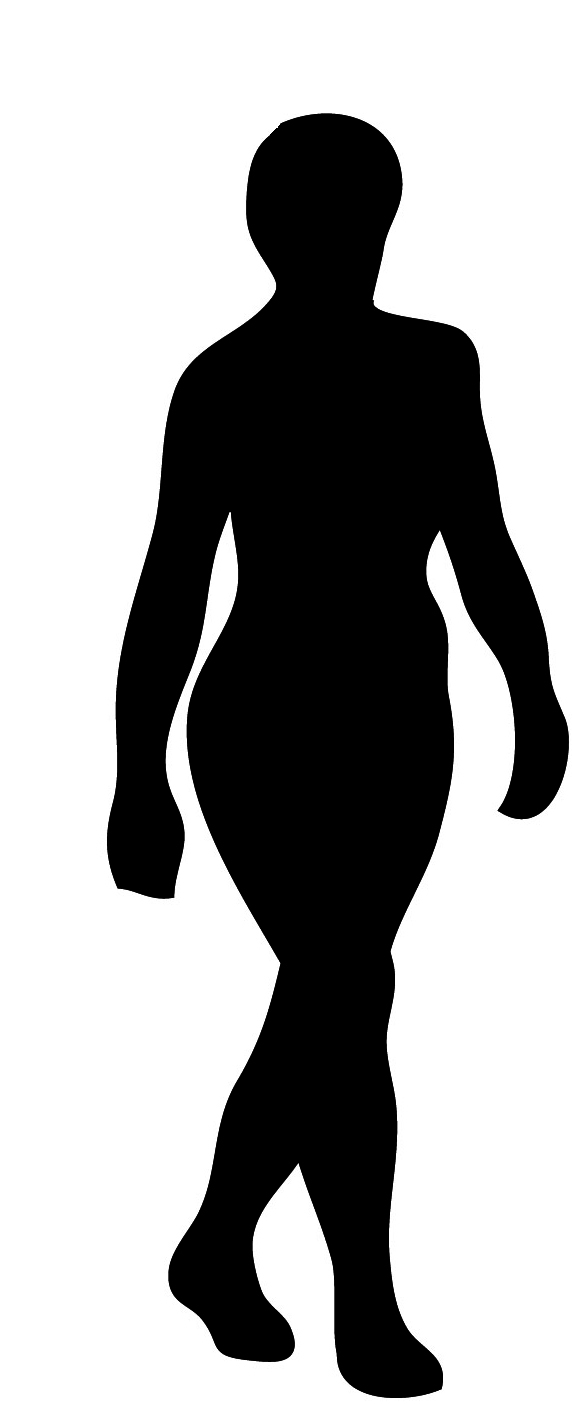 Human walking clipart black and white.