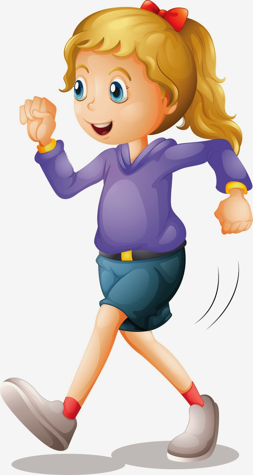 Clipart Of A Girl Walking.