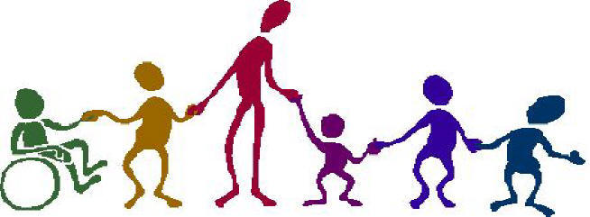 Hand in hand people clipart.
