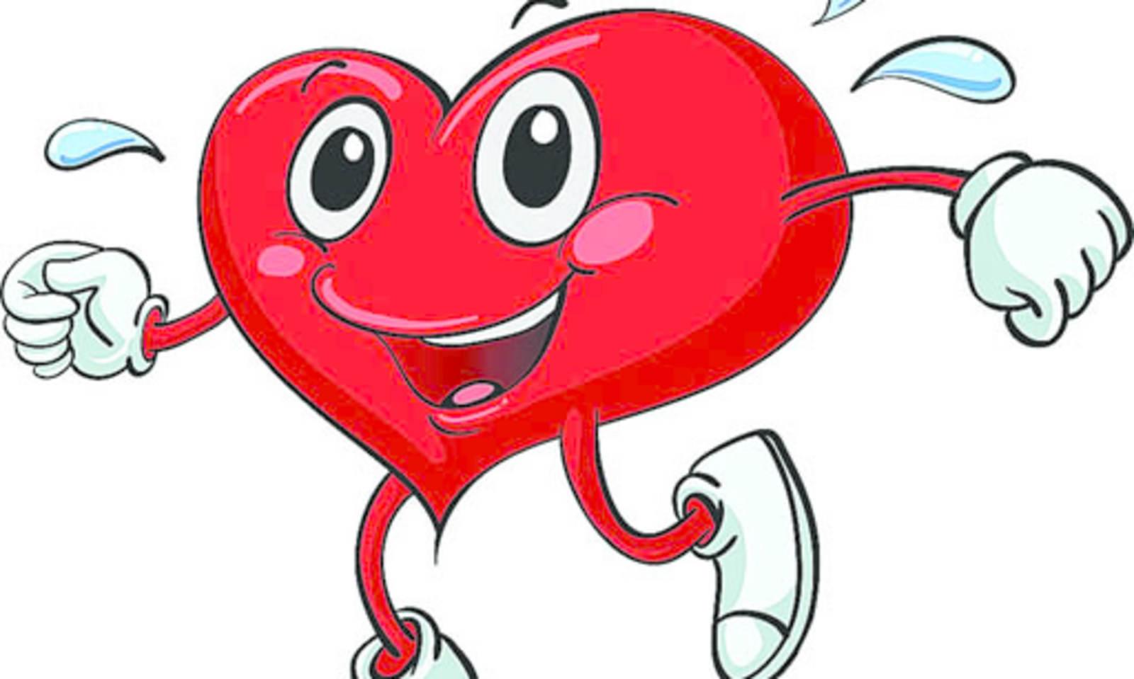 Brisk walk for a healthy heart.