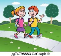 Walking home from school clipart 8 » Clipart Portal.