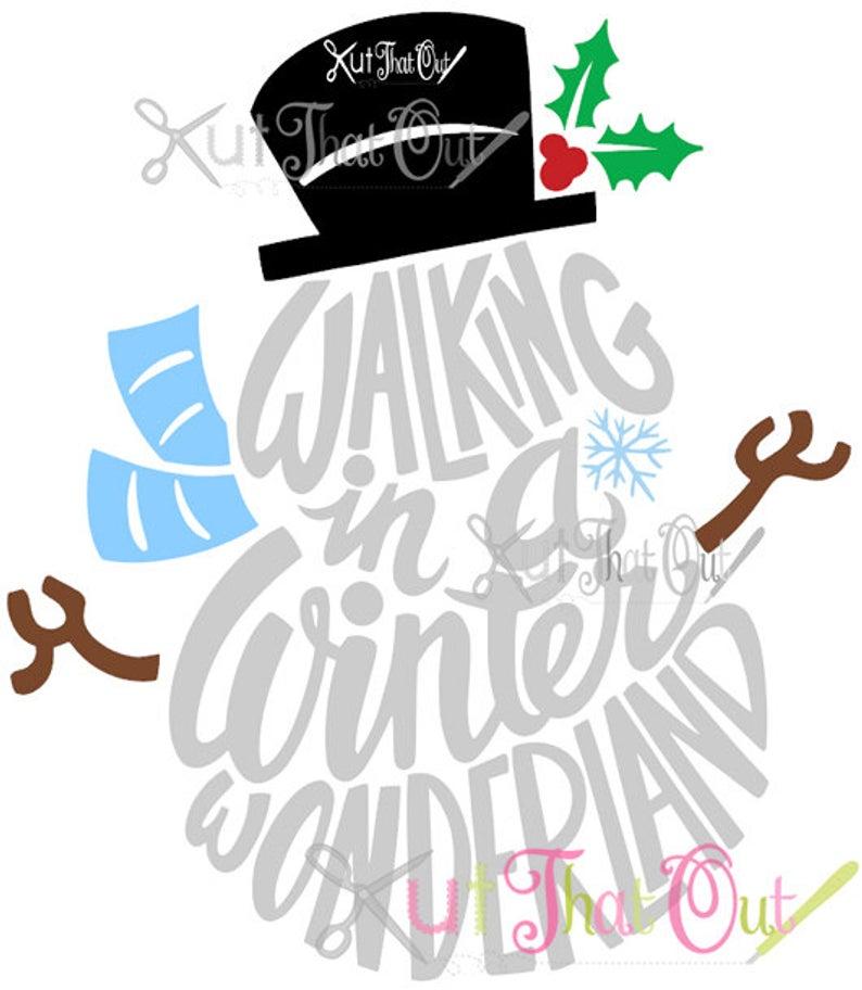 EXCLUSIVE Walking In A Winter Wonderland Snowman SVG & DXF File.