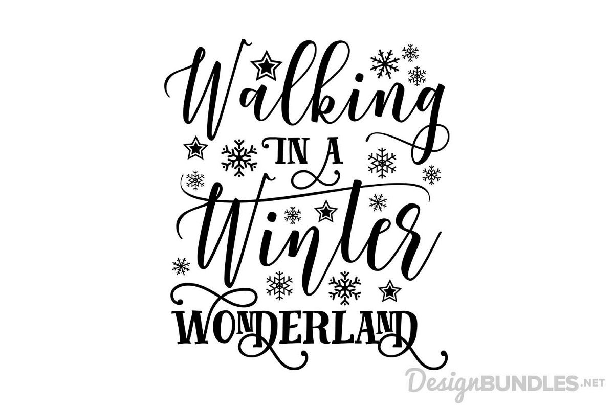 Winter Wonderland Winter Clipart Black And White.