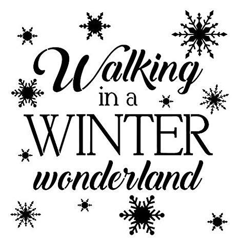 Amazon.com: Walking in a Winter Wonderland Stencil.