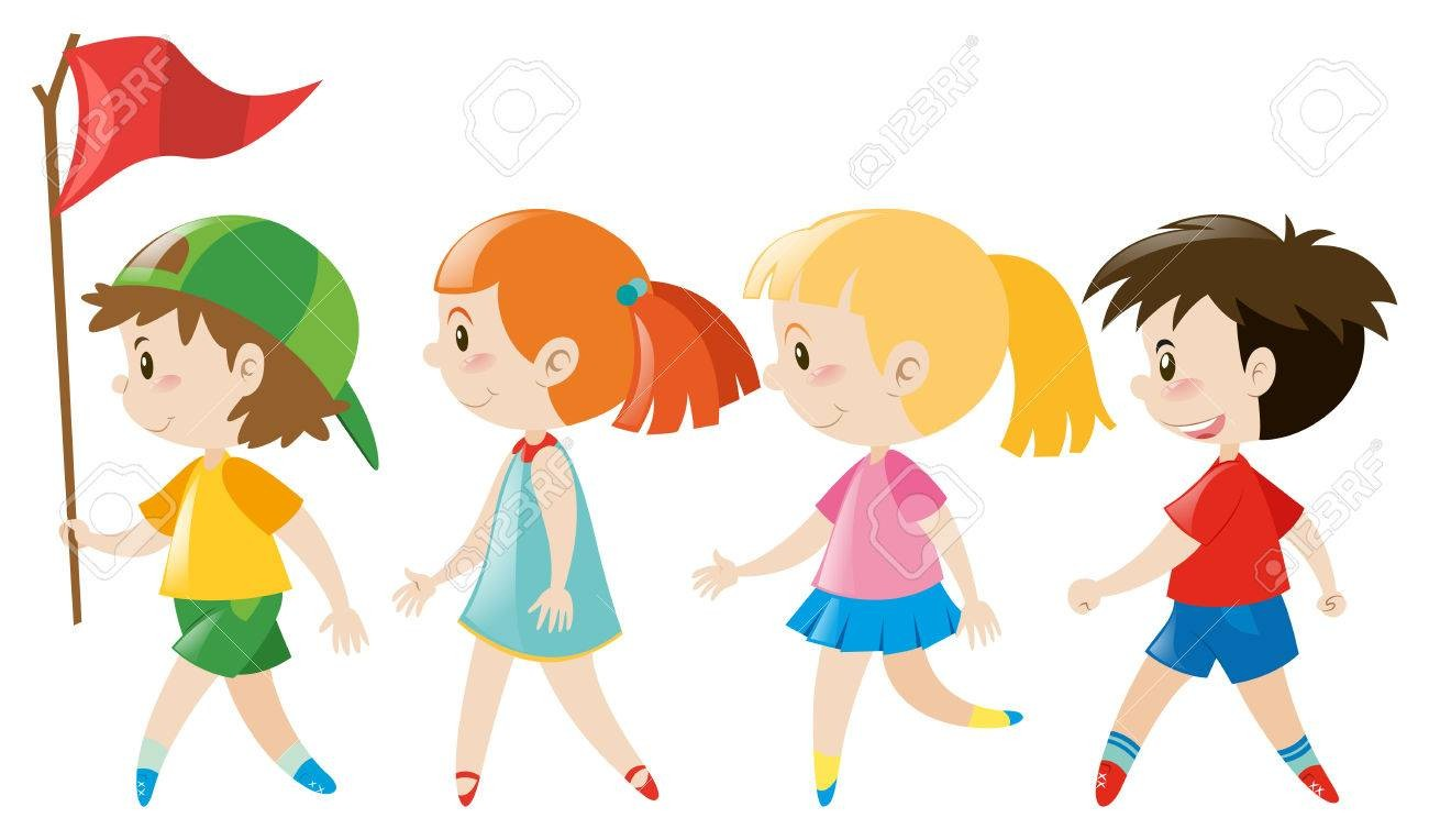 Walking in line clipart 1 » Clipart Station.