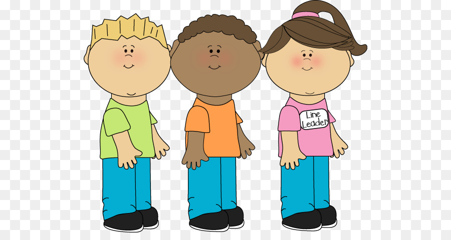 Line Of Students Clipart.
