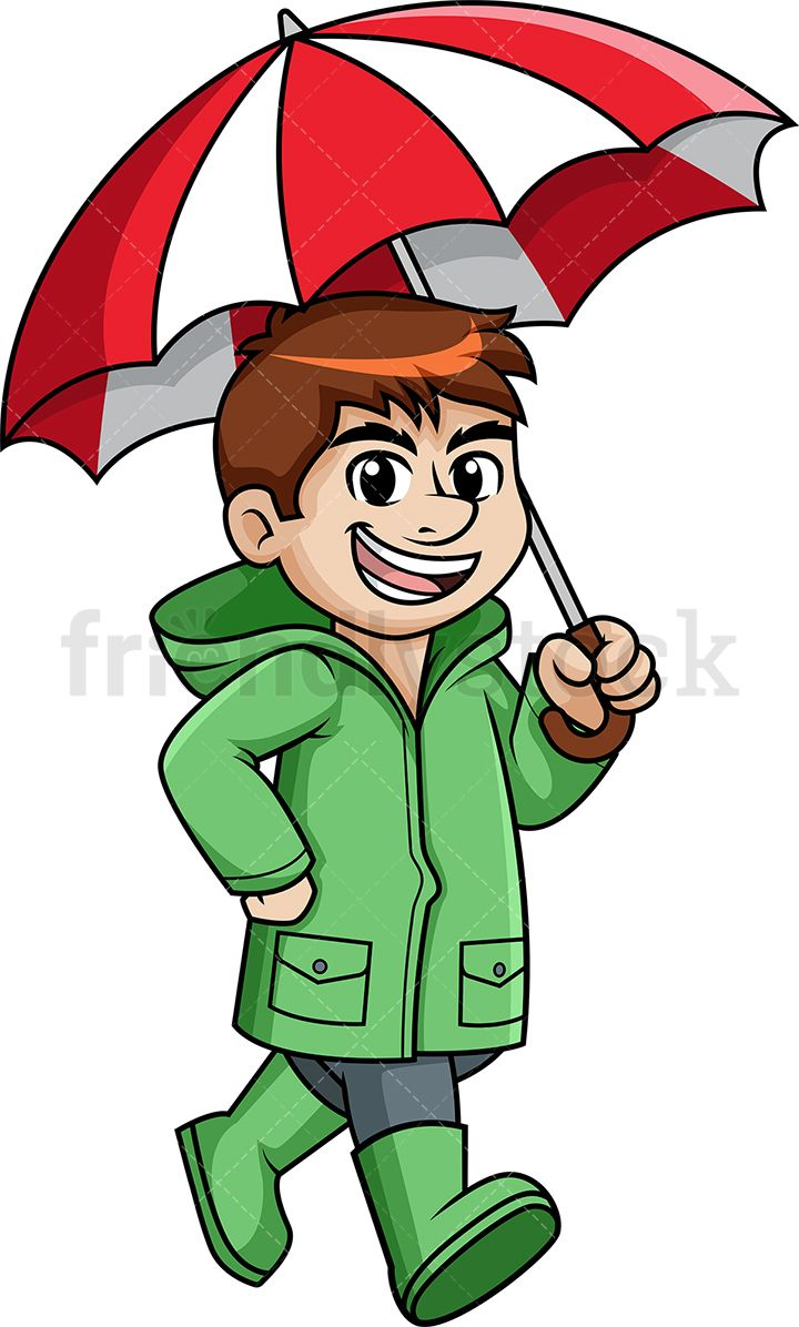 Man Walking In The Rain Holding Umbrella in 2019.
