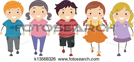 Clip Art of Kids Walking k13568326.