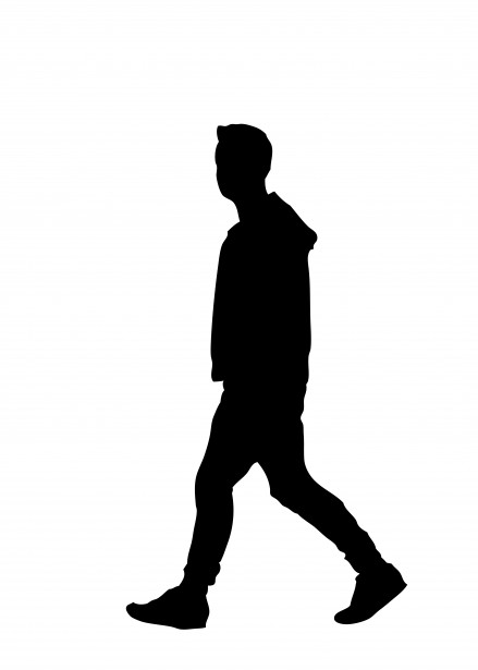 Man Walking Silhouette Clipart Free Stock Photo.
