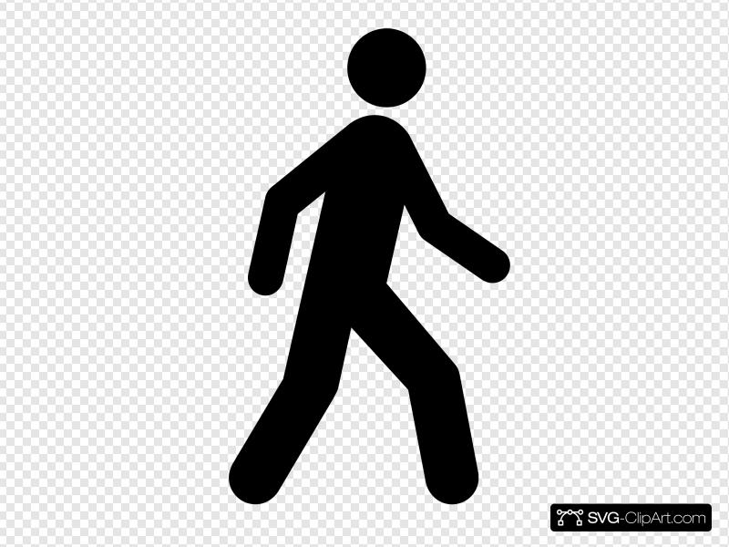 Walking Man Black Clip art, Icon and SVG.