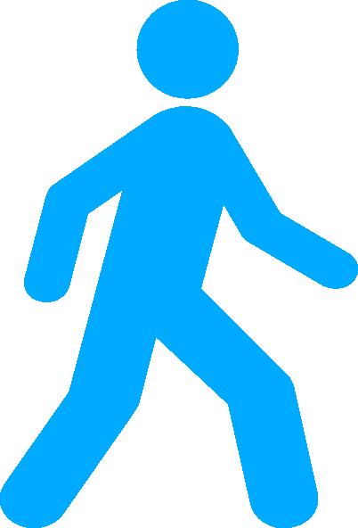 Walking Man Blue Clip Art at Clker.com.