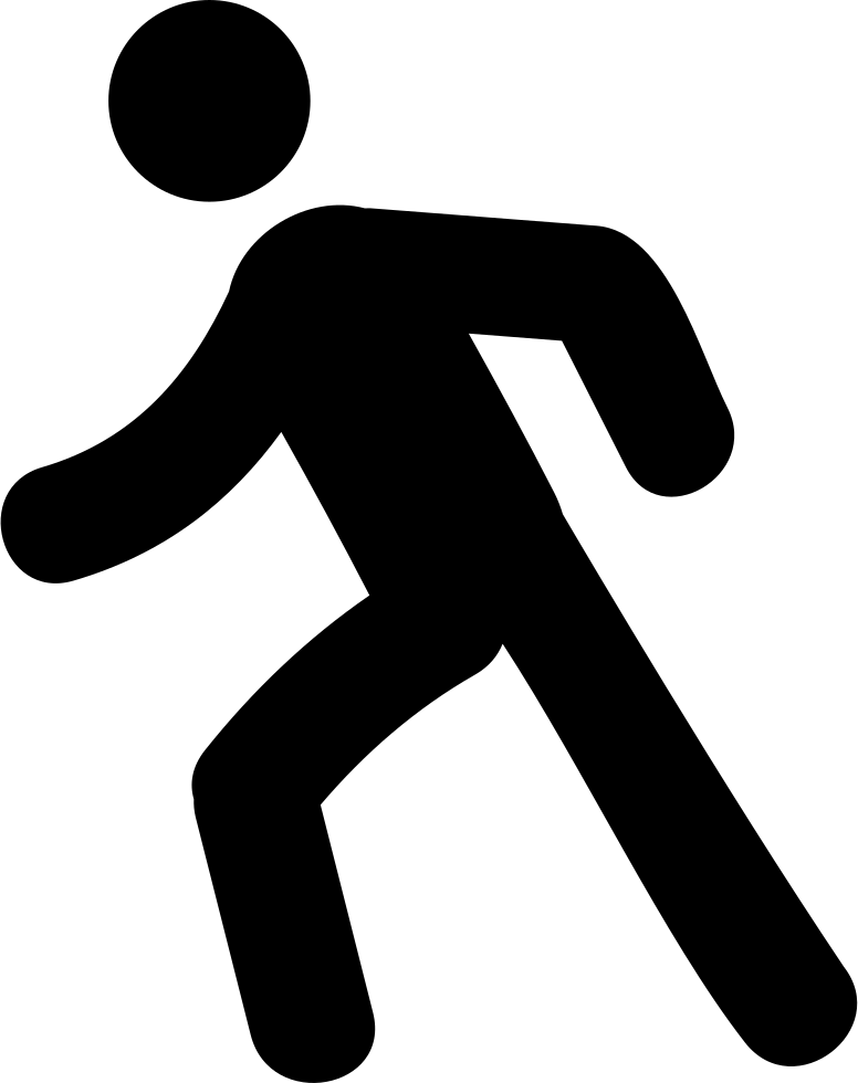 Clipart walking person symbol, Clipart walking person symbol.