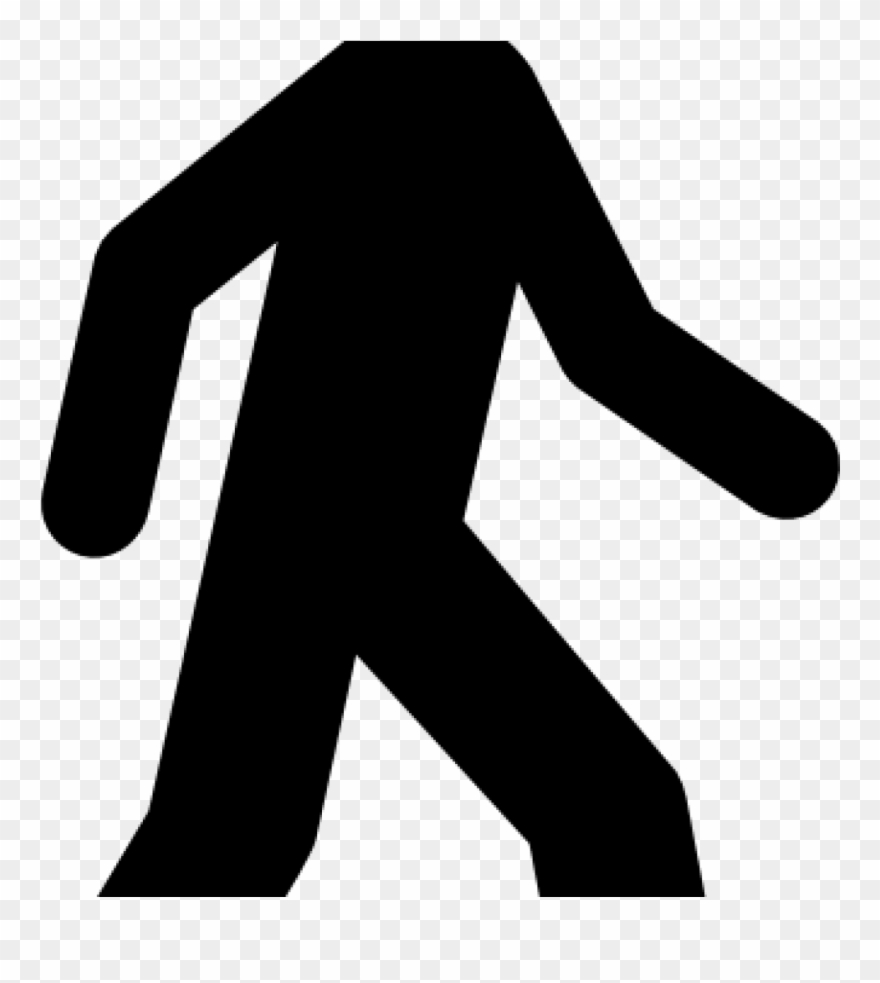 Walking Clipart Walking Man Black Clip Art At Clker.