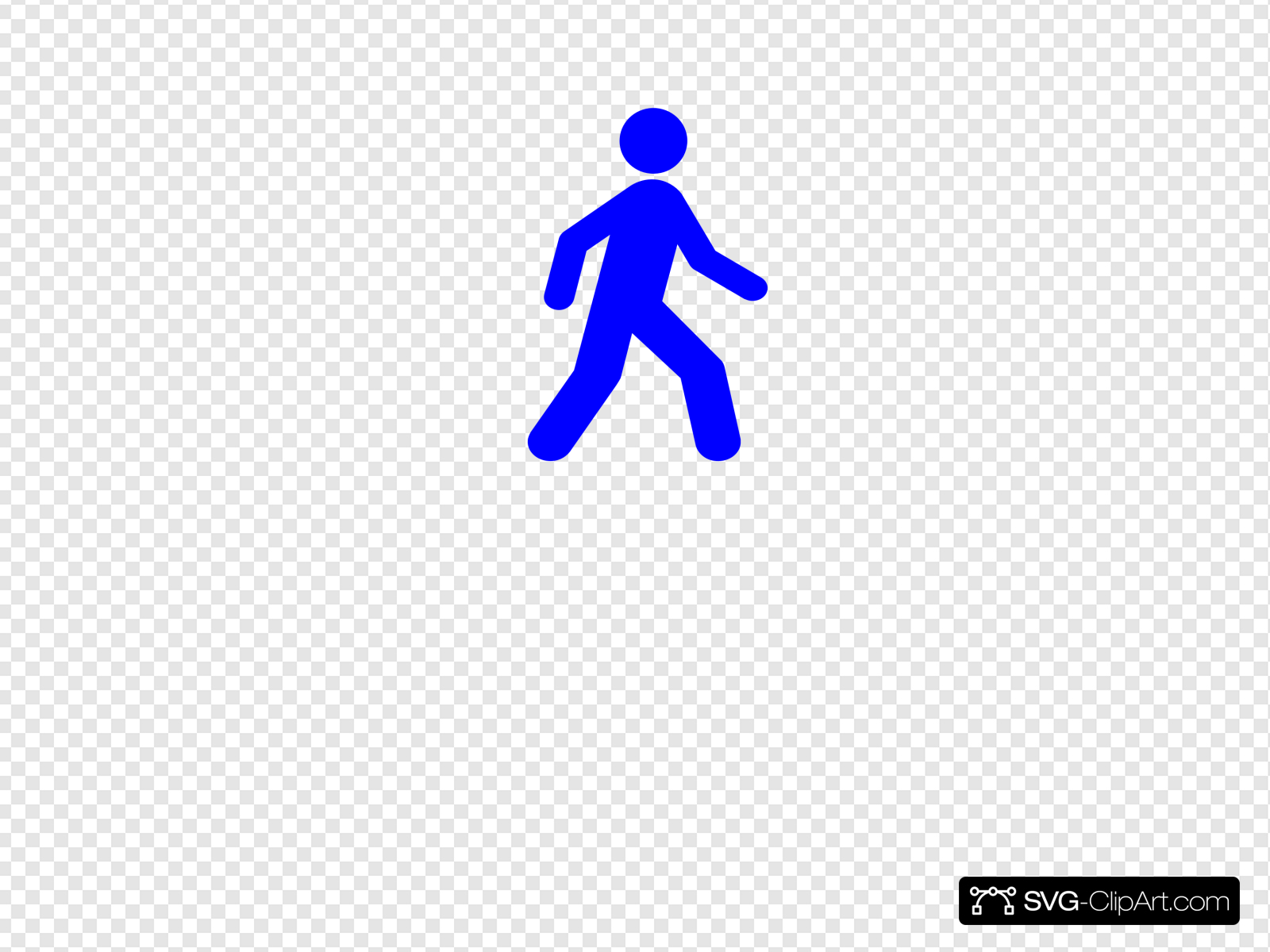 Walking Man Blue Clip art, Icon and SVG.