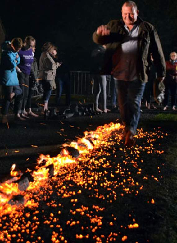 Walk over hot coals for charity at Orpheus Centre.