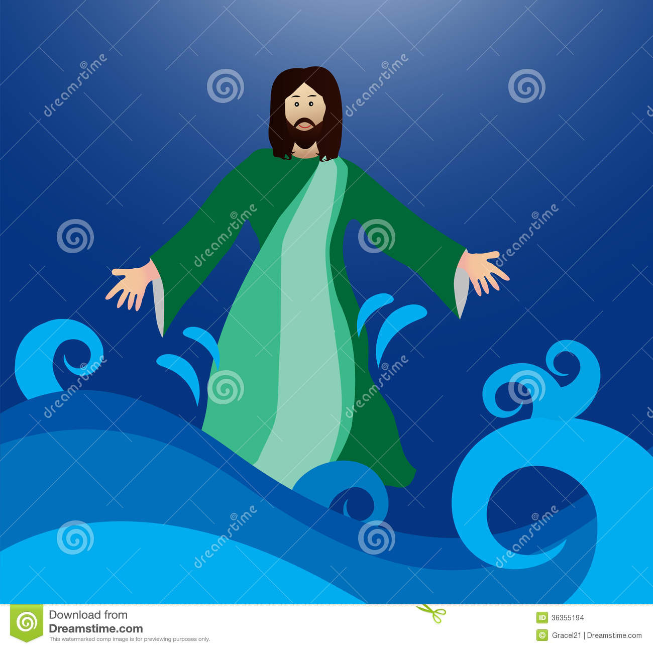 Jesus Walking Water Stock Photos, Images, & Pictures.