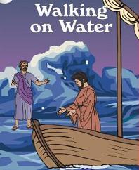 Jesus Walks on the Water Clipart.