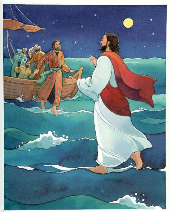 Walking on water clipart #16