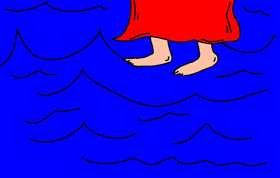 Walking on water clipart #18