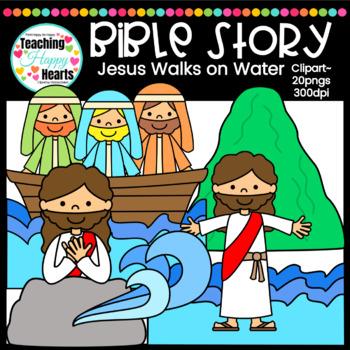 Jesus Walks on Water Clipart.