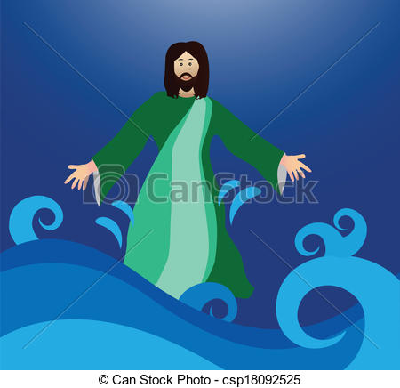 Jesus walks on water clipart 4 » Clipart Station.