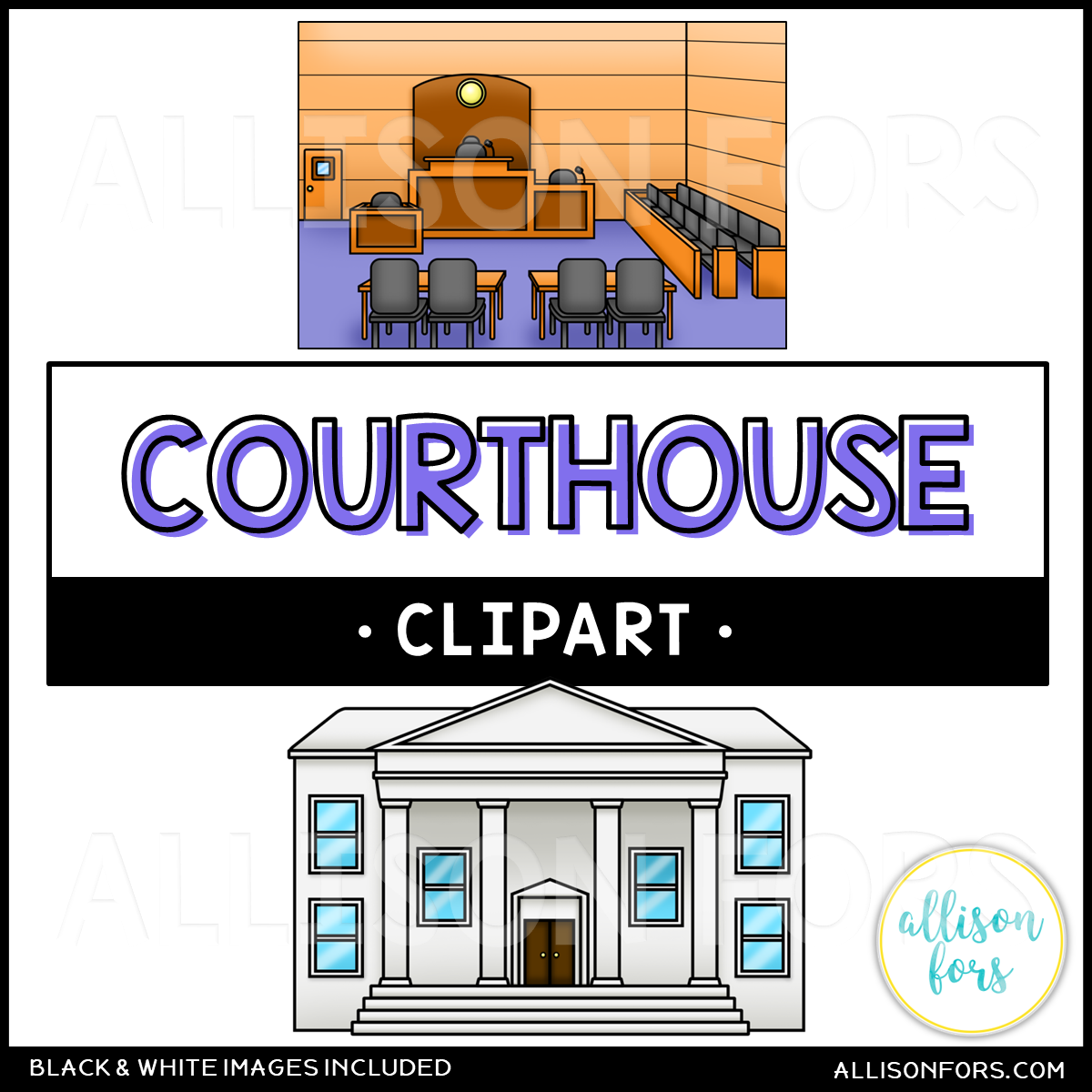 Courthouse & Courtroom Clip Art.
