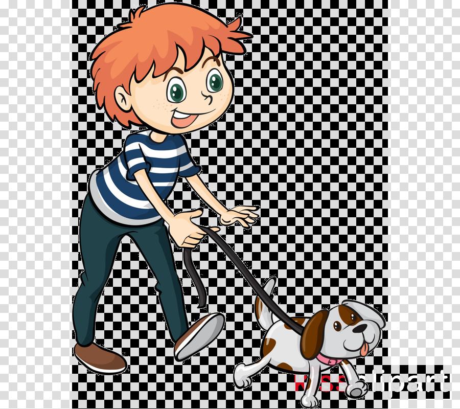 cartoon play dog walking clipart.