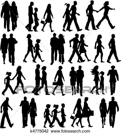 People walking clipart 6 » Clipart Station.