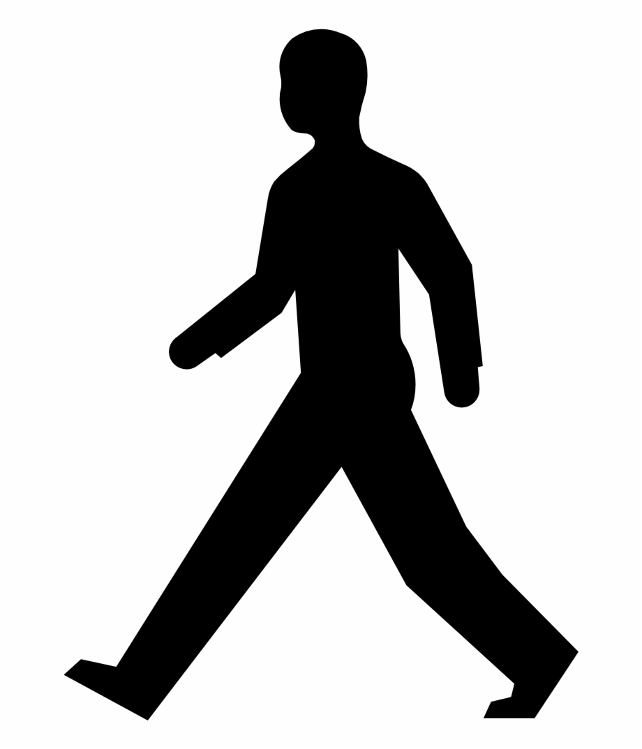 Walking Man Silhouette.