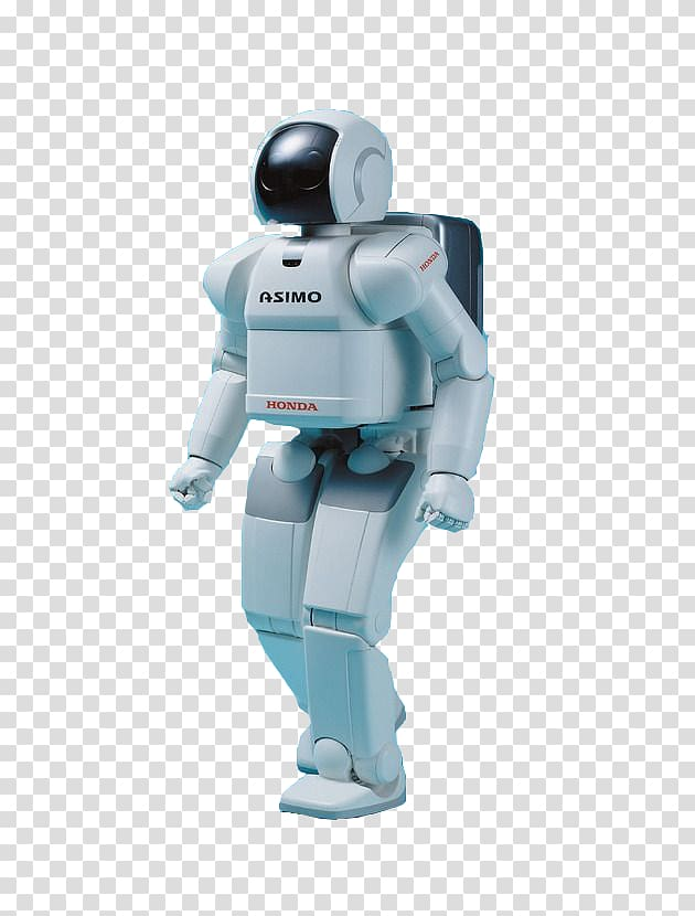 Standing white Honda Asimo robot, Robotics ASIMO Future High.