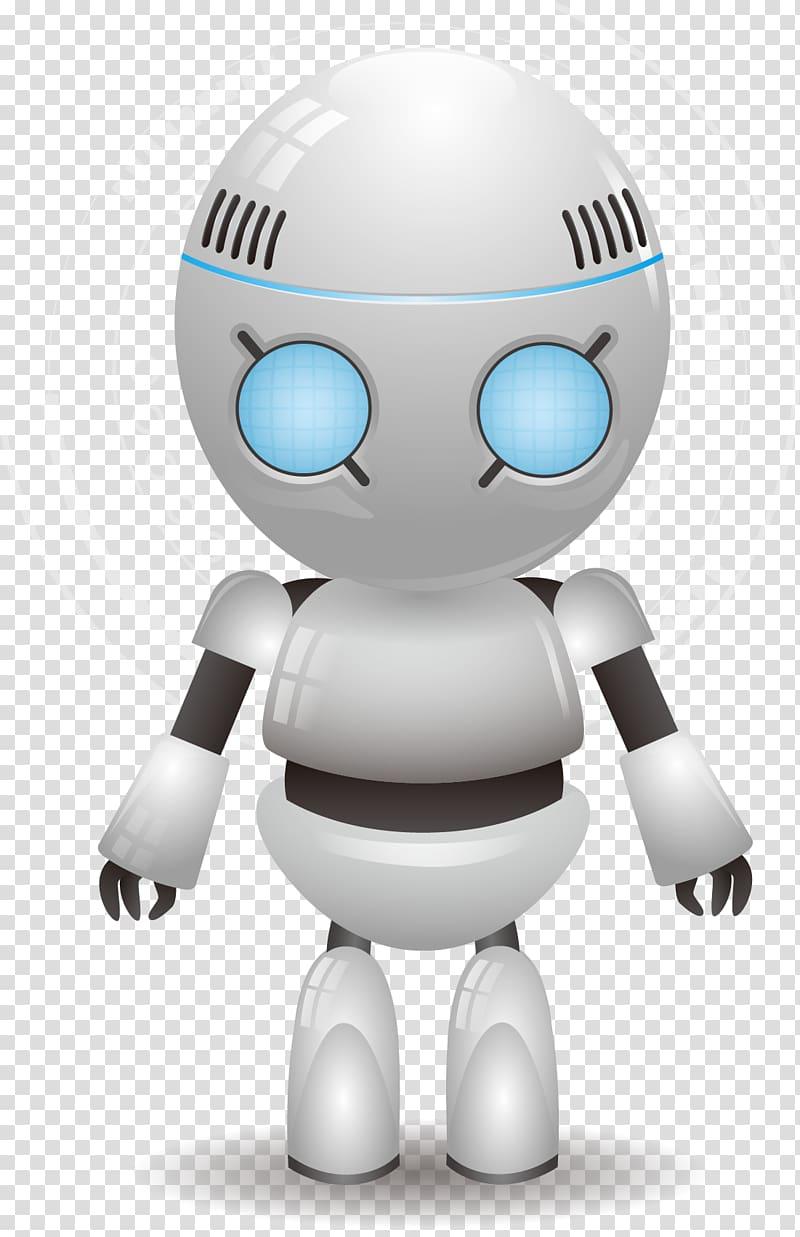 Grey robot illustration, Robot Euclidean High tech, tech.