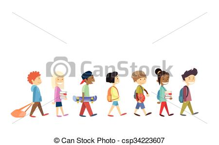 Walking school Clipart and Stock Illustrations. 2,087 Walking.