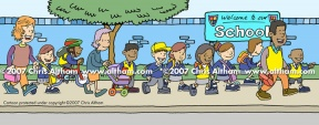 Walking School Bulldog Clipart.