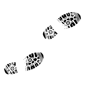 Shoe print walking clipart.