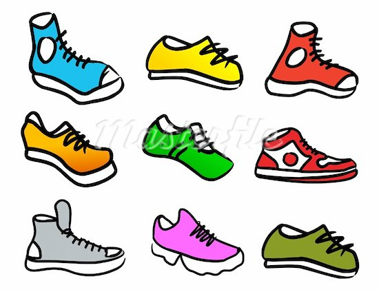 Free Clipart Walking Shoes.