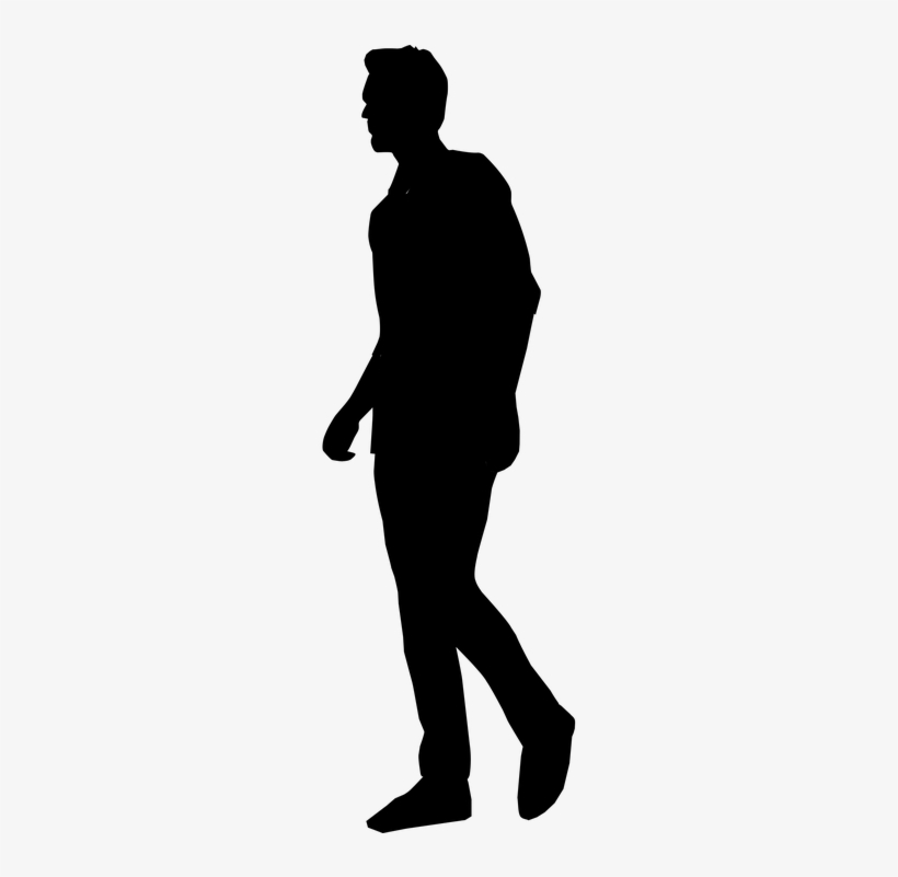 Download Free png People Silhouette Clipart Tall Man Silhouette.