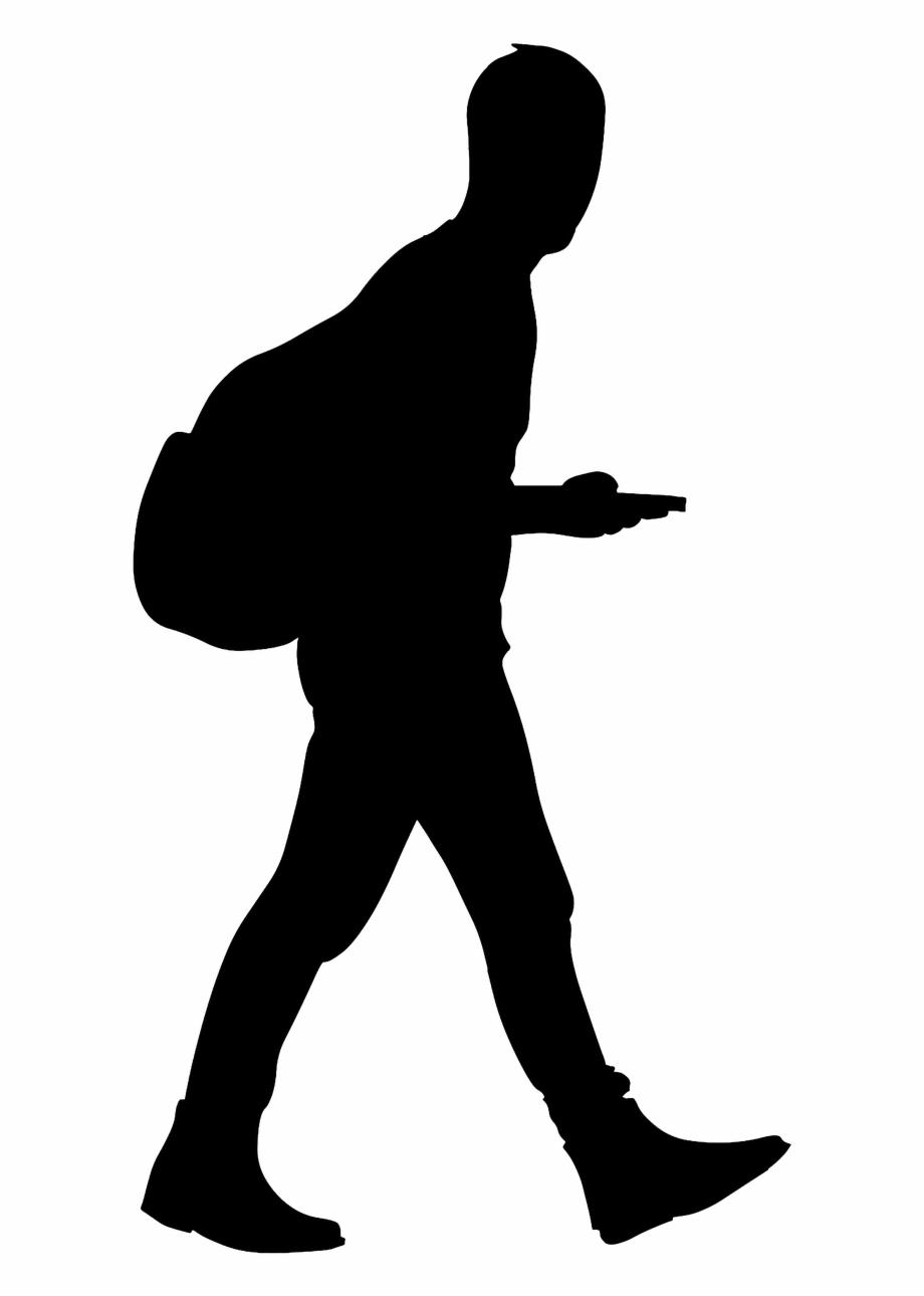 Man Walking Silhouette.