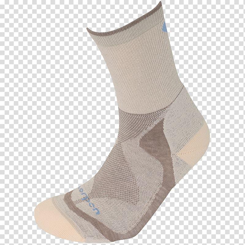 Crew sock Coolmax Hiking Clothing, female hiker transparent.