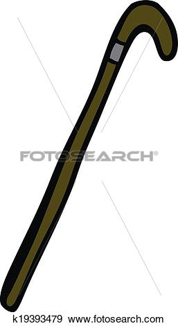 Clip Art of cartoon walking stick k19393479.