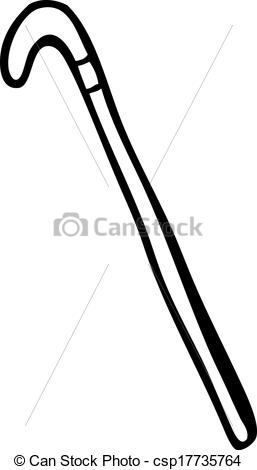 Clip Art Vector of cartoon walking stick csp17735764.