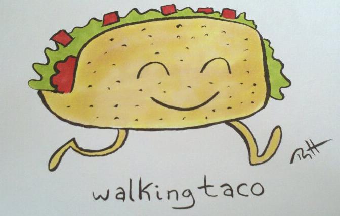 Walking Taco Clipart.