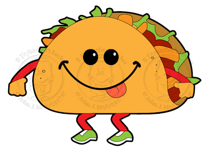 free walking taco clipart.