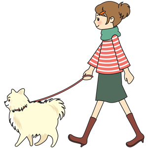 Woman walking a dog clipart, cliparts of Woman walking a dog free.